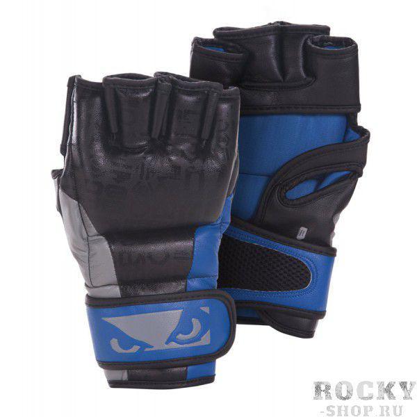 Купить Перчатки ММА Bad Boy Legacy MMA Gloves - Black/Blue (арт. 2979)