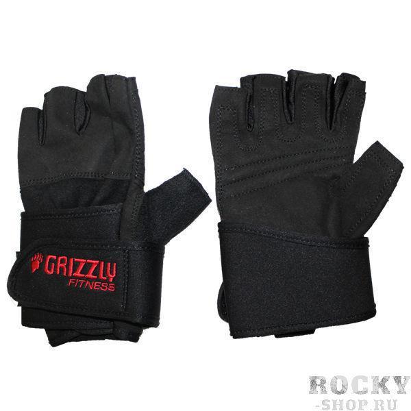 Купить Перчатки для фитнеса, мужские Grizzly чёрные (арт. 3)