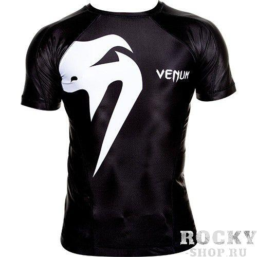 Купить Рашгард Venum Giant Rashguard - Short sleeves Black (арт. 3017)