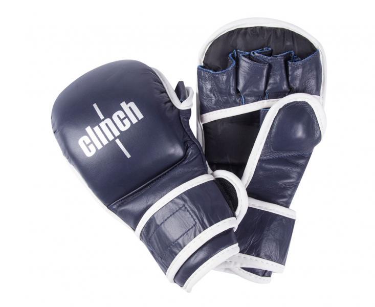 Перчатки для смешанных единоборств Clinch Union синие Clinch Gear