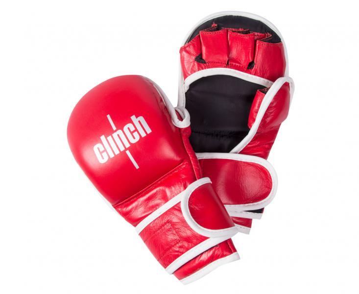 Перчатки для смешанных единоборств Clinch Union красные Clinch Gear