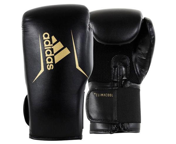Перчатки боксерские Speed 75 черно-золотые, 10 унций Adidas
