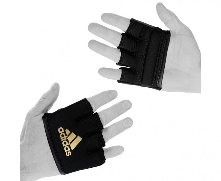 Накладки гелевые Knuckle Sleeve черно-золотые Adidas