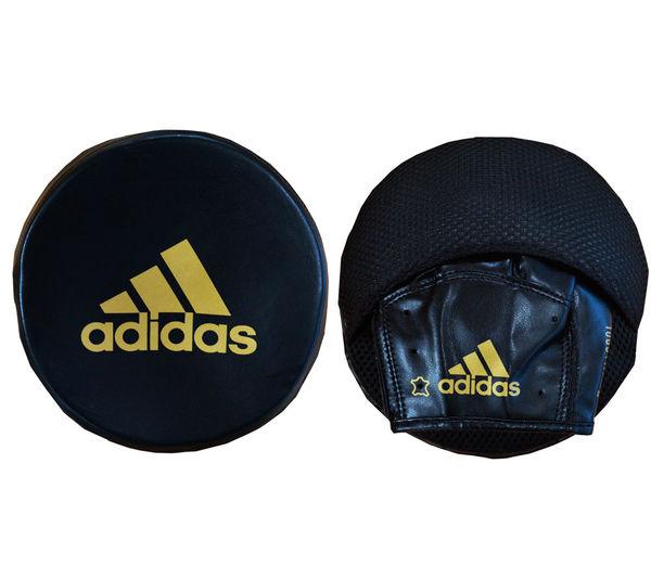 Лапы Disk Punch Mitts черно-золотые Adidas