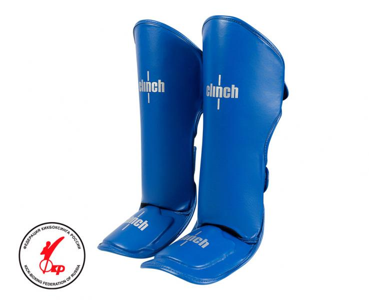 Защита голени и стопы Clinch Shin Instep Guard Kick синяя Clinch Gear