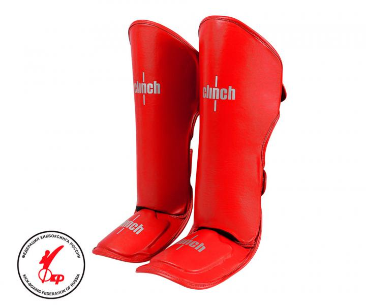 Защита голени и стопы Clinch Shin Instep Guard Kick красная Clinch Gear фото