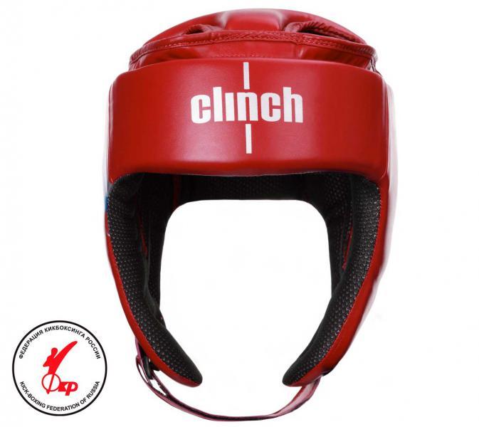 Шлем для единоборств Clinch Helmet Kick красный Clinch Gear