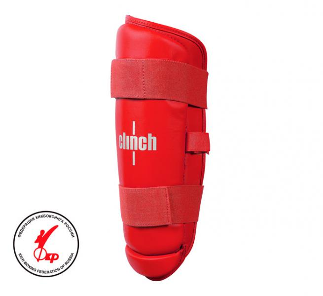 Защита голени Clinch Shin Guard Kick красная Clinch Gear