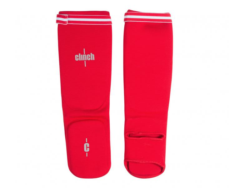 Защита голени и стопы Clinch Shin Instep Protector красная Clinch Gear