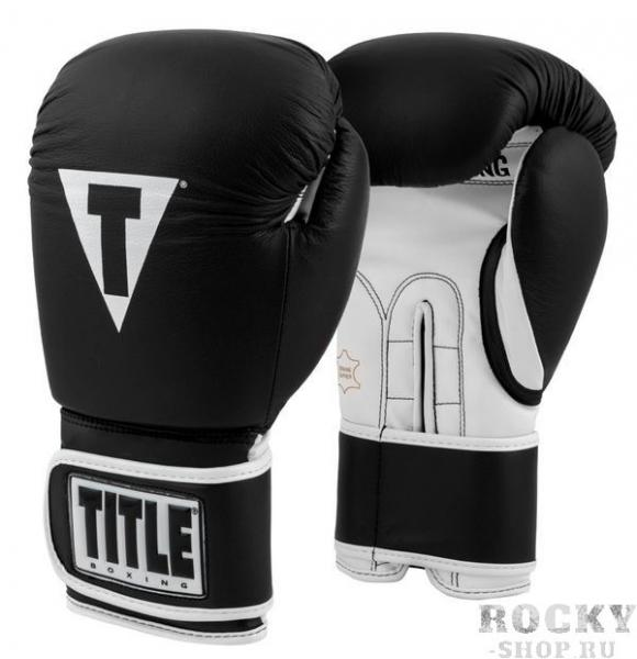 Перчатки тренировочные TITLE Pro Style 3.0 BK/WH, 12 oz TITLE фото