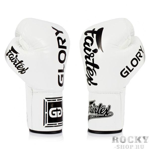 Боксерские перчатки Fairtex Glory White/Black, липучка, 10 OZ Fairtex фото
