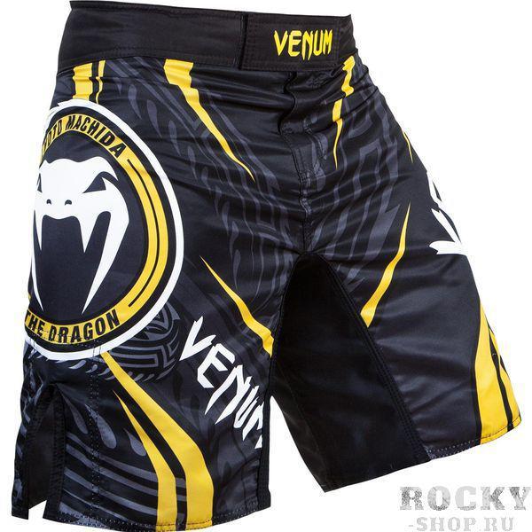Шорты ММА Venum Lyoto Machida RYUJIN Fightshorts - Black/Yellow VenumШорты ММА<br>Новые шорты Venum Lyoto Machida RYUJIN Fightshorts. Шорты разработанны специально для бойца UFC Лиото Мачиды- 100% полиэстер высокого качества- шелкография высокого качества- разрезами по бокам- застежка на липучке и шнурок для коррекции размера- ультралегкие- усиленная строчка швов<br><br>Размер INT: XXL