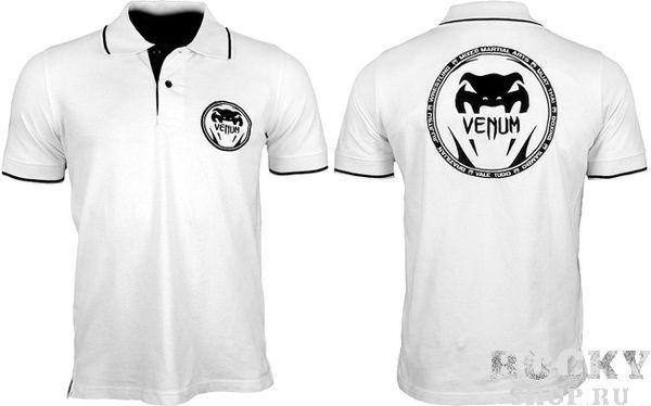 Поло Venum All sports Ice VenumФутболки / Майки / Поло<br>Новый дизайн от Venum – солидный вид в сочетании со спортивным стилем! Очень качественный воздухопроницаемый и практичный хлопок. На груди и на спине вышивка логотипа Venum,- 100% хлопок;- удобная и прочная;- высококачественная вышивка;- одна кнопка для замены в комплекте.<br>