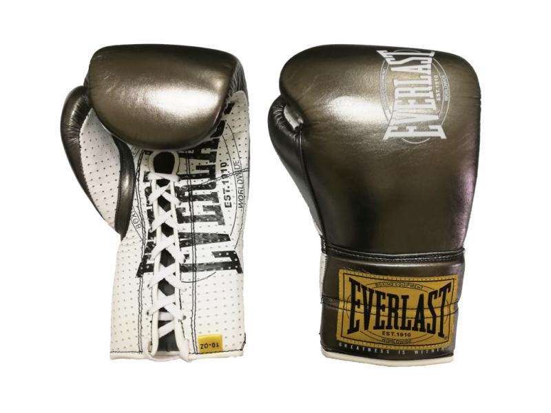 Боевые перчатки Everlast 1910 Classic Gunmetal, 8 oz Everlast