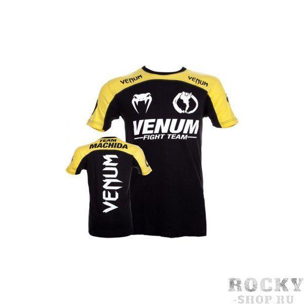 Купить Футболка Venum Machida Team T-shirt Black/Yellow (арт. 3102)