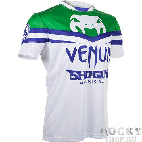 Купить Футболка Venum Shogun UFC161 Edition Dry Fit White/Green (арт. 3109)