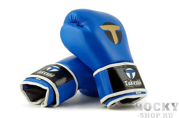 Перчатки боксерские тренировочные Takeshi Gym Blue FG 16 oz (арт. 31153)  - купить со скидкой