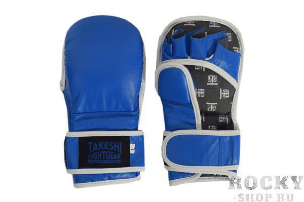 Детские тренировочные перчатки для ММА Takeshi Fight Gear Blue Takeshi FG