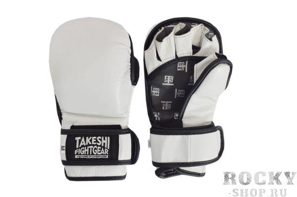 Детские тренировочные перчатки для ММА Takeshi Fight Gear White Takeshi FG