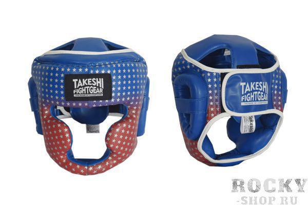 Шлем боксерский детский Takeshi Star Kids Blue/Red Takeshi FG