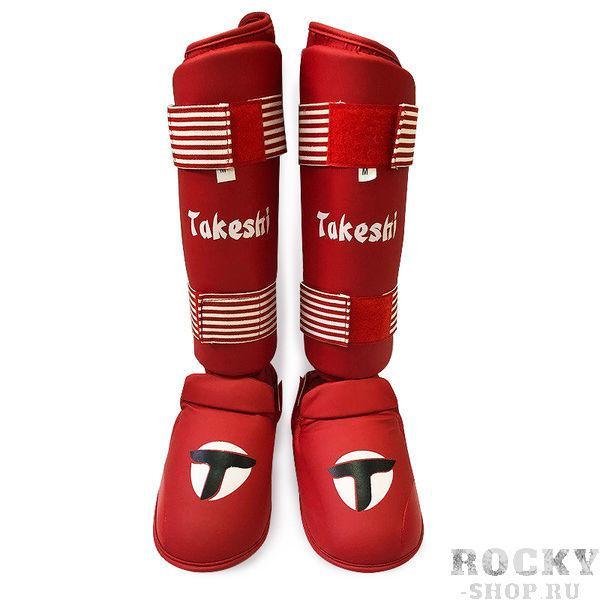 Защита голени для карате Takeshi Fight Gear Red Takeshi FG