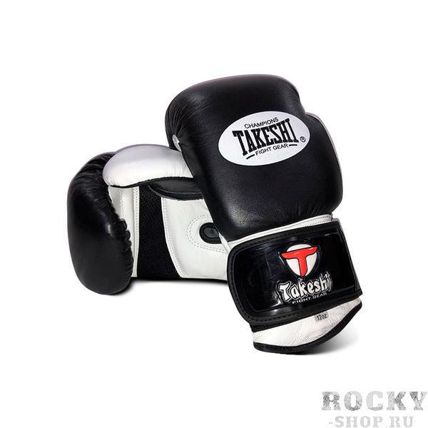 Боксерские перчатки Takeshi Gear Black/White, 14 OZ Takeshi FG