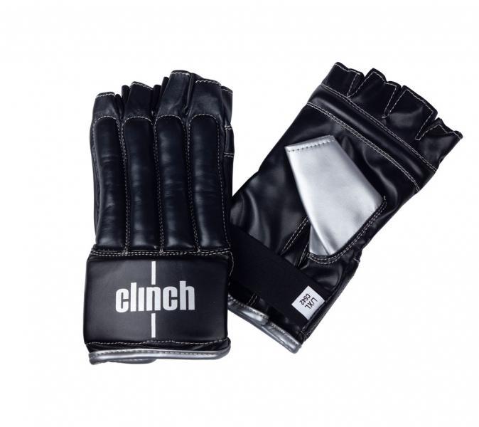 Перчатки снарядные (Шингарты) Clinch Bag Gloves Cut Finger черно-серебристые Clinch Gear