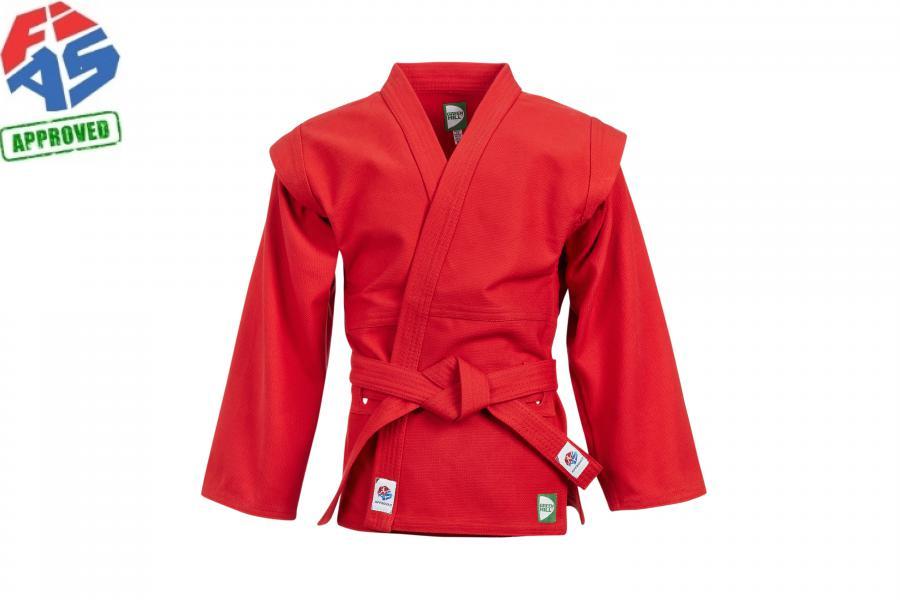 Куртка для самбо Green Hill Master FIAS approved (лицензия FIAS), красная Green Hill