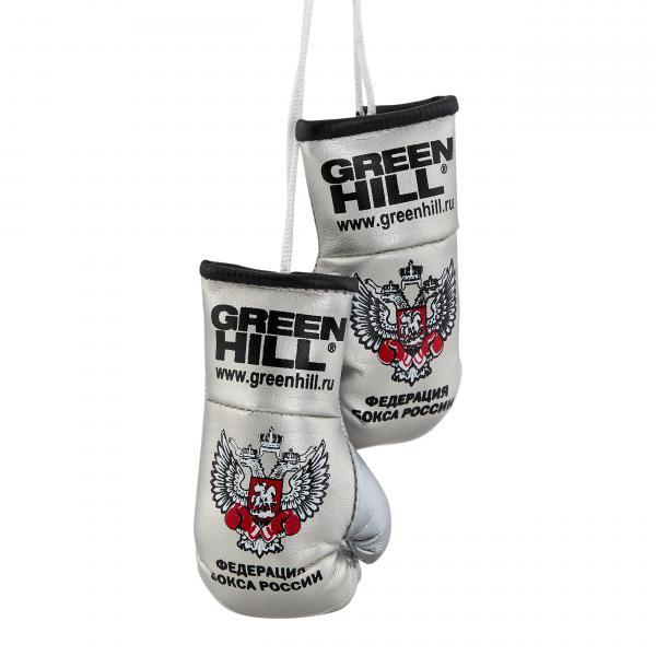 Перчатки сувенирные Green Hill, двойные, Федерация Бокса РФ серебристые Green Hill фото