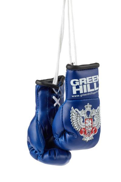 Перчатки сувенирные Green Hill, двойные, Федерация Бокса РФ синие, 9*4 см Green Hill