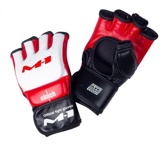 Перчатки для смешанных единоборств Clinch M1 Global Official Fight Gloves бело-красно-черные Clinch Gear