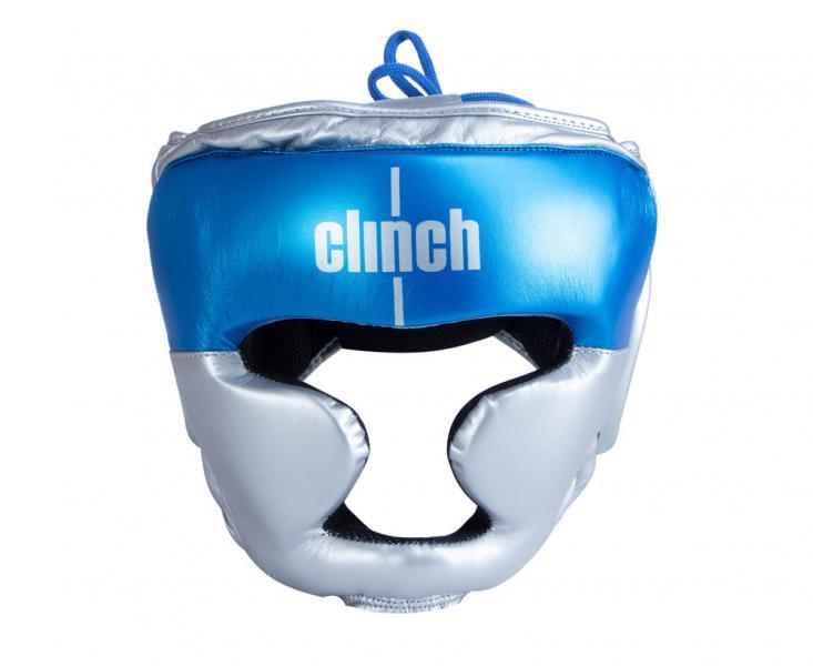 Шлем боксерский Clinch Kids серебристо-синий Clinch Gear