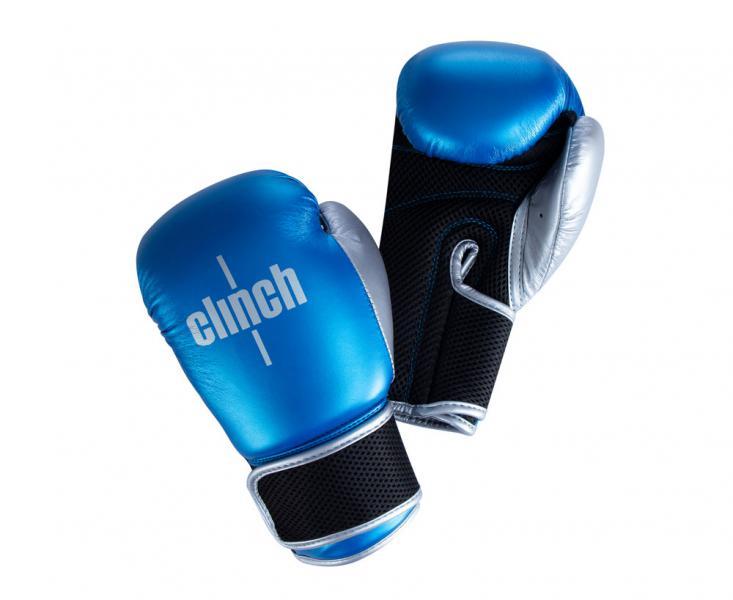 Перчатки боксерские Clinch Kids сине-серебристые, 6 унций Clinch Gear
