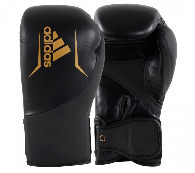 Перчатки боксерские Speed 200 черно-золотые, 14 унций Adidas