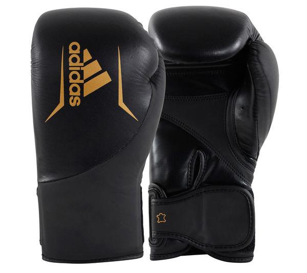 Перчатки боксерские Speed 200 черно-золотые Adidas 16 унций (арт. 31720)  - купить со скидкой