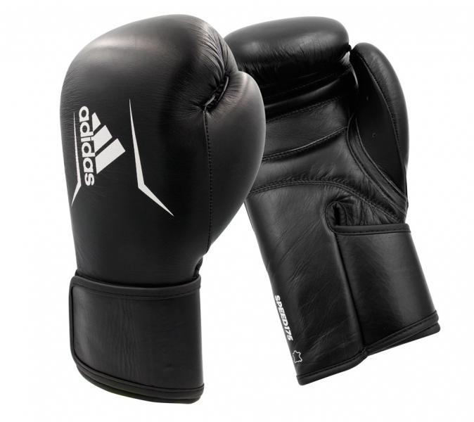 Перчатки боксерские Speed 175 черно-белые, 12 унций Adidas