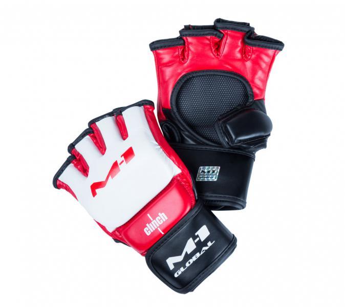 Перчатки для смешанных единоборств Clinch M1 Global Gloves бело-красно-черные Clinch Gear