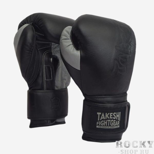Перчатки боксерские Takeshi Fight Gear Black/Grey New FG 12 oz (арт. 31864)  - купить со скидкой