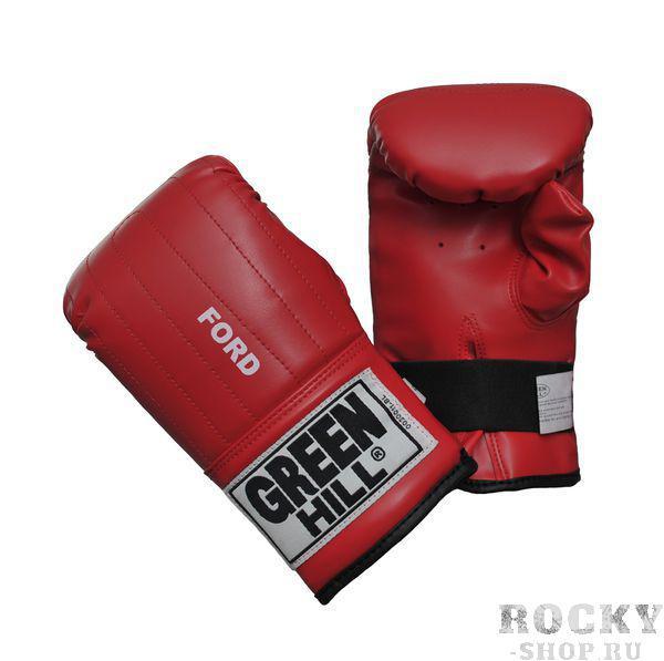 """Перчатки боксерские FORD, M Green HillCнарядные перчатки<br>Снарядные перчатки """"Ford"""" («блинчики»). Недорогие снарядные перчатки для отработки ударов. Подойдут для домашнего использования и для начинающих спортсменов. Выполнены из иск.кожи, манжет на резинке. Размеры: Замерьте обхват ладони сантиметровой лентой в наиболее широком месте, исключив при этом большой палец руки Размер: S M L XL Обхват ладони, см. 17-18 18-19 19-22 23-27&amp;lt;p&amp;gt;Преимущества:&amp;lt;/p&amp;gt;    &amp;lt;li&amp;gt;Жёсткое запястье&amp;lt;/li&amp;gt;<br>    &amp;lt;li&amp;gt;Необрезанный большой палец&amp;lt;/li&amp;gt;<br>    &amp;lt;li&amp;gt;Фиксация на резинке&amp;lt;/li&amp;gt;<br>    &amp;lt;li&amp;gt;Высокая жёсткость внутреннего материала&amp;lt;/li&amp;gt;<br>    &amp;lt;li&amp;gt;Синтетическая кожа высокого качества&amp;lt;/li&amp;gt;<br>"""