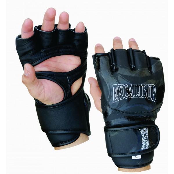 Перчатки ММА Excalibur 685/01 Black PU Excalibur