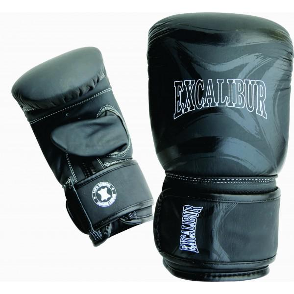 Перчатки снарядные Excalibur 682/01 Black Буйволиная кожа Excalibur