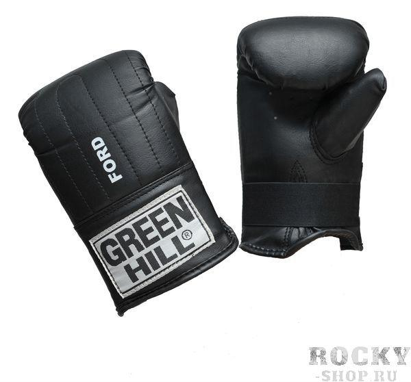 """Перчатки снарядные Green Hill FORD, L Green HillCнарядные перчатки<br>Снарядные перчатки """"Ford"""" («блинчики»). Недорогие снарядные перчатки для отработки ударов. Подойдут для домашнего использования и для начинающих спортсменов. Выполнены из иск. кожи, манжет на резинке. Размеры: Замерьте обхват ладони сантиметровой лентой в наиболее широком месте, исключив при этом большой палец руки Размер: S M L XL Обхват ладони, см. 17-18 18-19 19-22 23-27<br> Жёсткое запястье<br> Необрезанный большой палец<br> Фиксация на резинке<br> Высокая жёсткость внутреннего материала<br> Синтетическая кожа высокого качества<br><br>Цвет: Синий"""