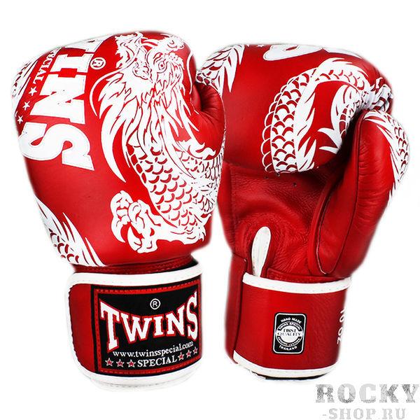 Боксерские перчатки TWINS FBGV-49 New Dragon Red White, 10 OZ Twins Special фото
