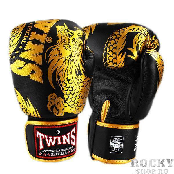 Боксерские перчатки TWINS FBGV-49 New Dragon Black Gold, 14 OZ Twins Special