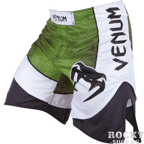 Шорты ММА Venum  Amazonia 3 Green VenumШорты ММА<br>Одни из лучших шорт для ММА, Кикбоксинга или BJJ! Новые усовершенствованные шорты Venum Amazonia 3. 0 - отменное качество полиэстера и микрофибры! Именно сочетание этих двух тканей: прочной и легкой микрофибры и эластичного полиэстера, делают эти шорты еще более комфортными и дают полную свободу амплитуде движений. Внешний вид просто сногсшибательный! &amp;nbsp;Особенность анатомического кроя дает ощущение, как будто Вы носите шорты Муай Тай – никаких ограничений движений. - особенности сочетания материала: микрофибра и полиэстер- разрез по бокам для неограниченной свободы- усиленная тройная строчка для большей долговечности- принт змеиной кожи сублимирован в ткань- сделаны в Бразилии<br><br>Размер INT: XXL