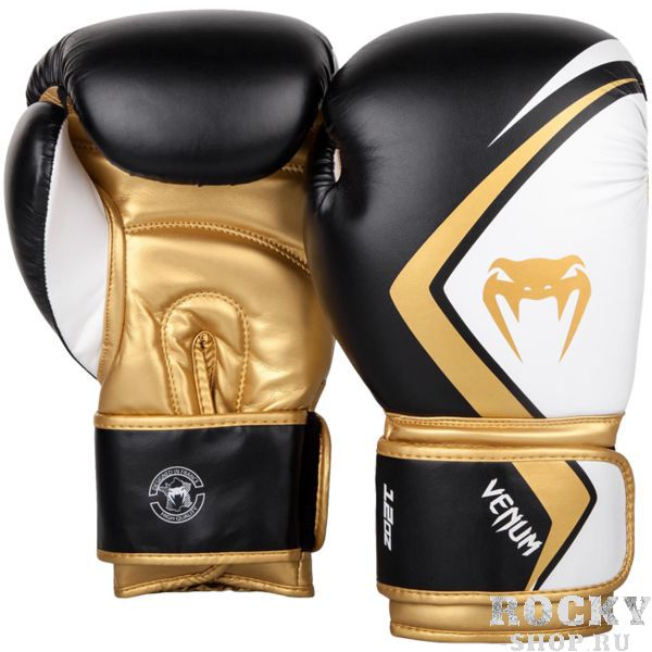 Перчатки Venum Contender 2.0 Black/White-Gold