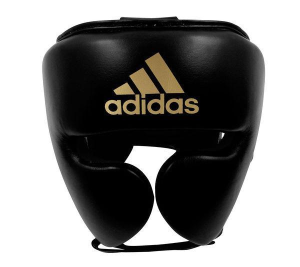 Шлем боксерский AdiStar Pro Headgear черно-золотой Adidas