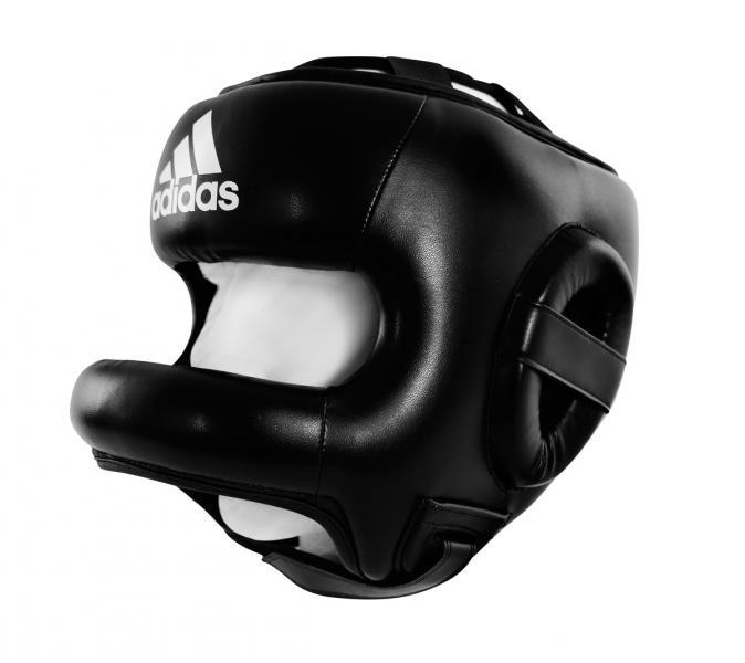 Шлем боксерский с бампером Pro Full Protection Boxing Headgear черный Adidas