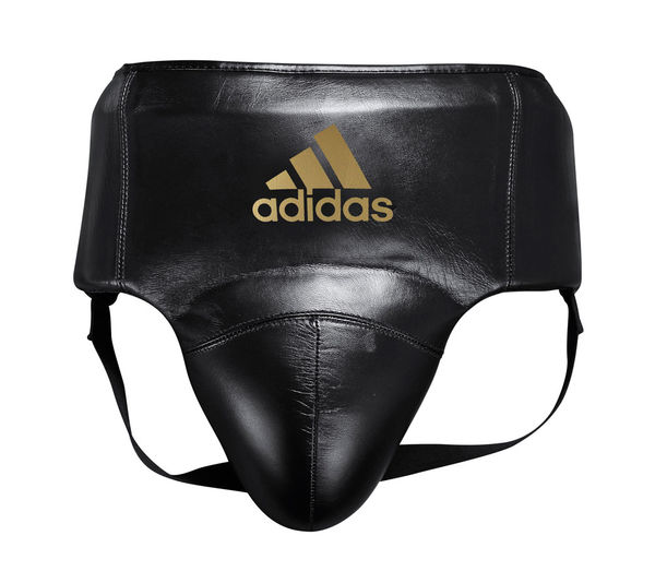 Защита паха мужская AdiStar Pro Groin Guard черно-золотая Adidas