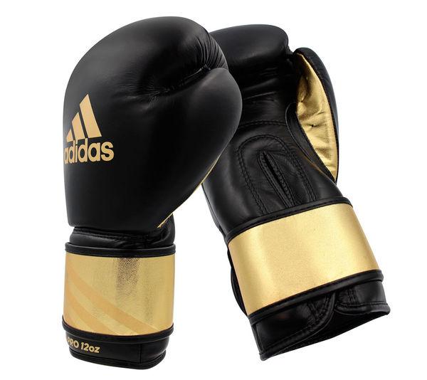 Перчатки боксерские Speed Pro черно-золотые, 12 унций Adidas
